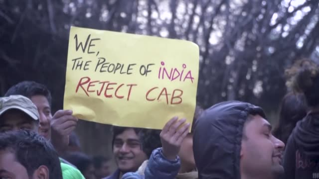 several thousands muslims hindus and assamese protesters rally in the indian capital of new delhi on saturday evening urging prime minister narendra... - citizenship stock videos & royalty-free footage