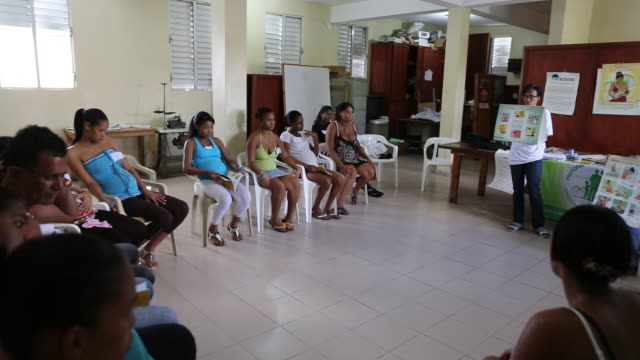 santa domingo dominican republic november 29 2012 several women participating at a educational lesson for pregnant women which is a part of the... - santo domingo dominican republic stock videos & royalty-free footage