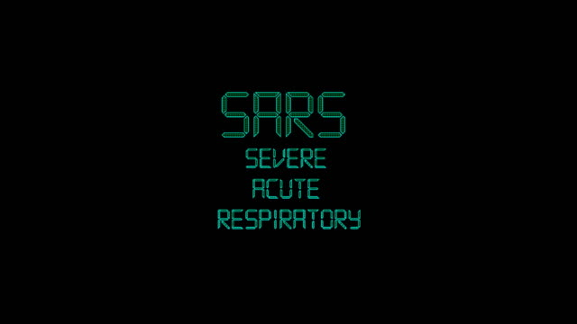 sars severe acute respiratory title animation - disease vector stock videos & royalty-free footage