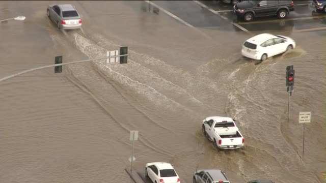 severe flooding affects riverside county in california - riverside california stock videos and b-roll footage