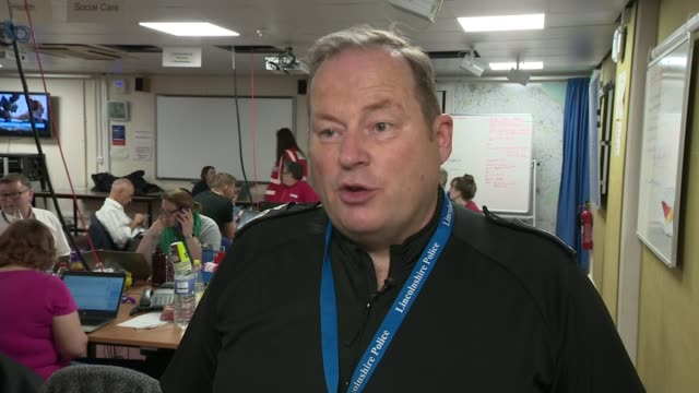 Severe flooding forces evacuation in Wainfleet Lincolnshire ENGLAND Lincolnshire INT Deputy Chief Constable Craig Naylor interview SOT EXT Police...