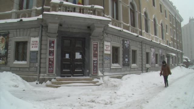 Severe snow storms in Romania have seriously damaged the roof of the historic State Jewish Theatre of Bucharest one of the oldest Jewish theatres in...