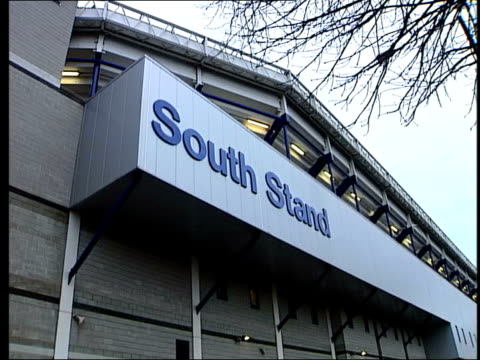 white hart lane south stand at tottenham hotspur fc gv large puddle outside empty stadium - tottenham hotspur f.c stock videos & royalty-free footage