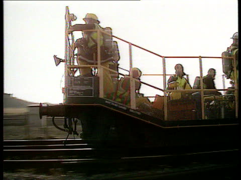Train Crash ENGLAND Avon Severn Tunnel AIRV Entrance to rail tunnel AIRV Ditto closer TLMS Tunnel entrance ZOOM IN firemen standing around TCMS...