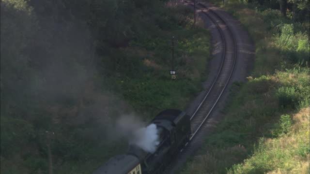 severn valley steam train (black) - river severn stock videos & royalty-free footage