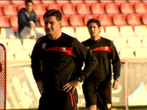 Sevilla 8 feb Getafe's former head coach and Sevilla's new head coach Spanish Jose Miguel Gonzalez 'Michel' directed his first training session with...