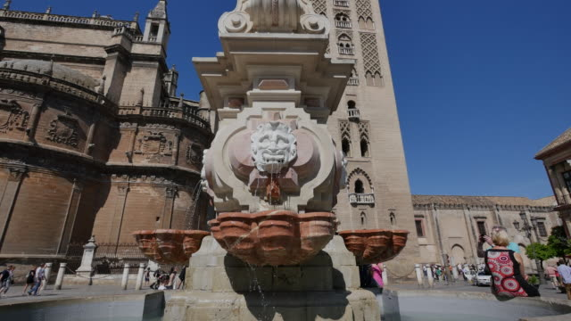 Seville face mouth fountain tilts up