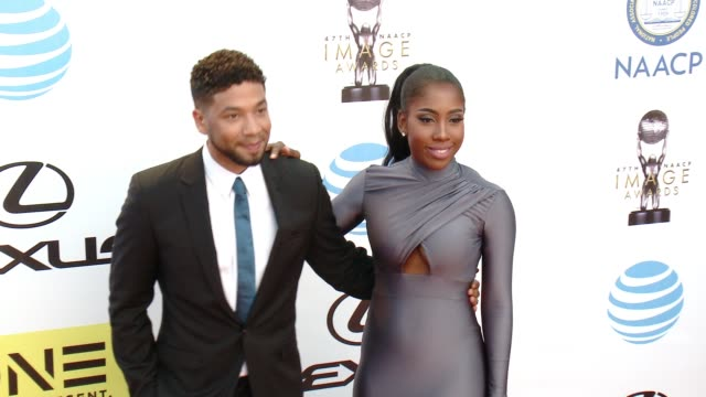 Sevyn Streeter Jussie Smollett at 47th NAACP Image Awards in Los Angeles CA