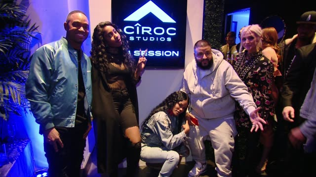 Sevyn Streeter Teyana Taylor DJ Khaled Ashlee Simpson at CIROC Studios Launch Event Hosted by DJ Khaled at the iconic Record Plant Studios in Los...