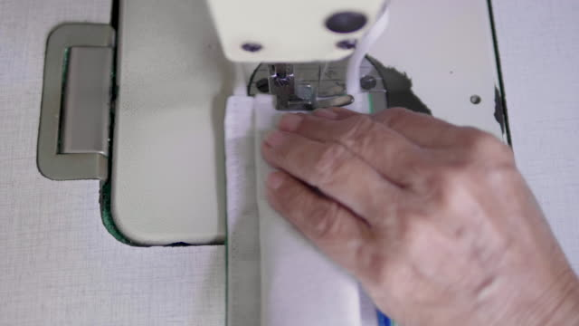 sew the mask - sewing machine stock videos & royalty-free footage
