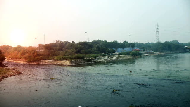 sewage and yamuna river mixing water, new delhi - toxic waste stock videos & royalty-free footage