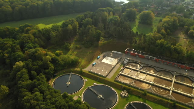 sewage treatment plant - sustainable resources stock videos & royalty-free footage