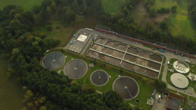 sewage treatment plant - energy efficient stock videos & royalty-free footage