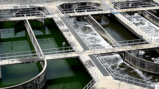 sewage treatment plant - water purification stock videos and b-roll footage