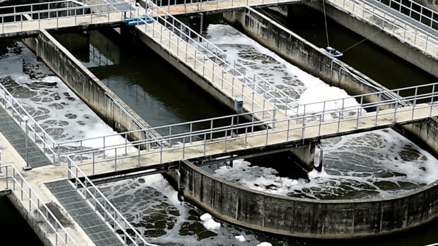 sewage treatment plant - sewage stock videos and b-roll footage