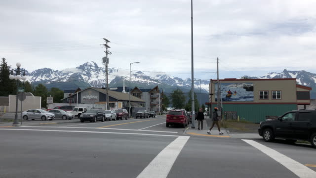 seward is a port city in southern alaska, set on an inlet on the kenai peninsula. - inlet stock videos & royalty-free footage