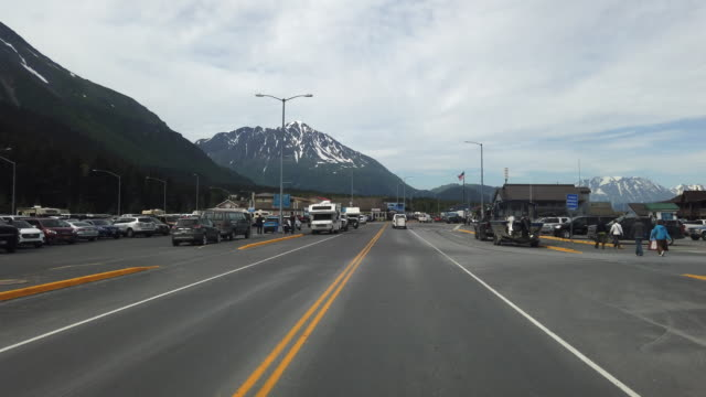 seward is a port city in southern alaska set on an inlet on the kenai peninsula - camper van stock videos & royalty-free footage