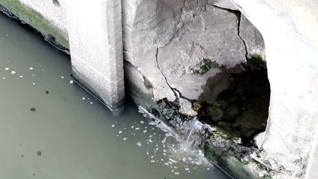 Kanalisationsabflüsse Abfall in den Fluss