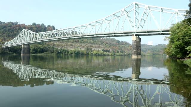 vídeos y material grabado en eventos de stock de puente de sewickley, pennsylvania - río ohio