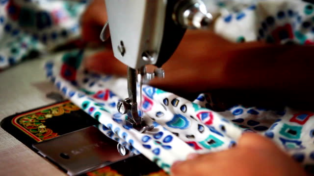 sewing a dress - manufacturing machinery stock videos & royalty-free footage