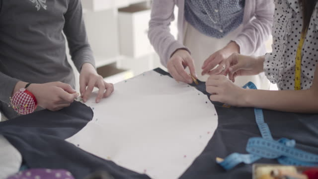 sewing class for kids. - sewing stock videos and b-roll footage