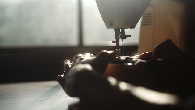 sewing fabrics in the sunlight - craft stock videos & royalty-free footage