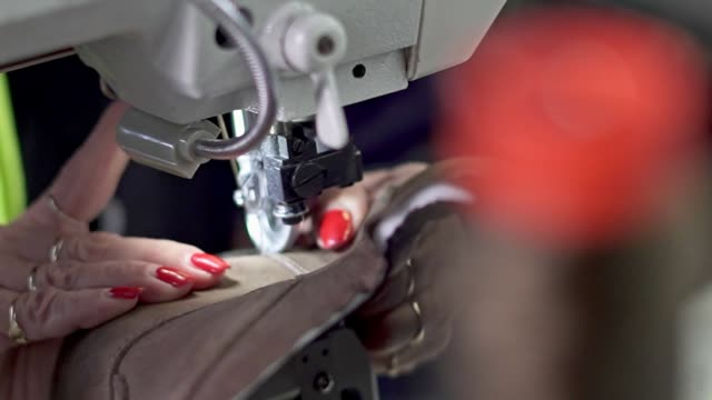 sewing leather shoes - animal skin stock videos & royalty-free footage