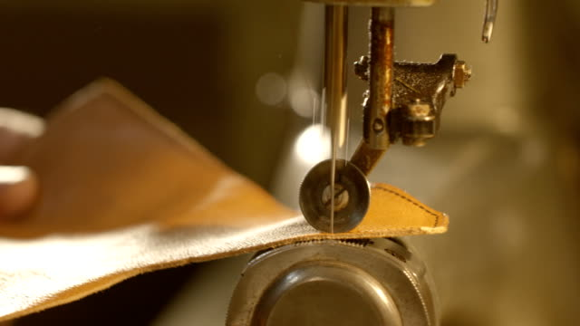 sewing leather - material stock videos and b-roll footage