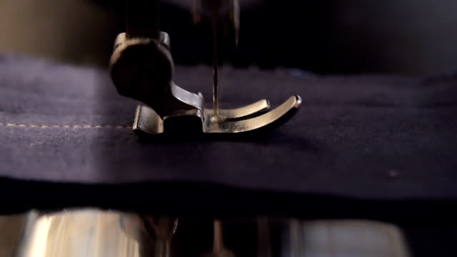 sewing machine detail - sewing machine stock videos & royalty-free footage