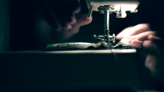 sewing machine, hands, handmade - intellectual property stock videos and b-roll footage