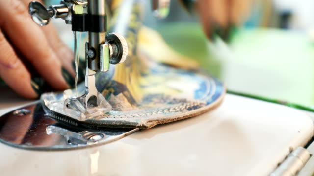 sewing machine - fashion designer stock videos and b-roll footage