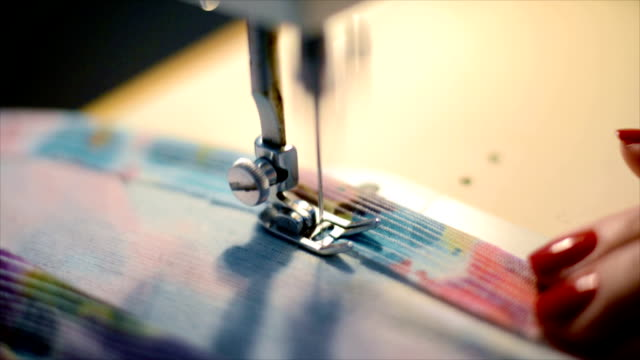 sewing machine - red nail polish stock videos and b-roll footage