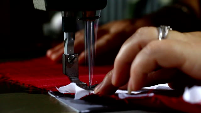 sewing machine - depth marker stock videos & royalty-free footage