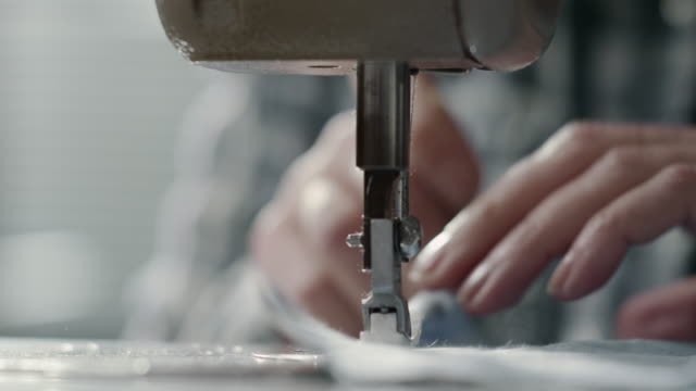 sewing machine - textile stock videos & royalty-free footage