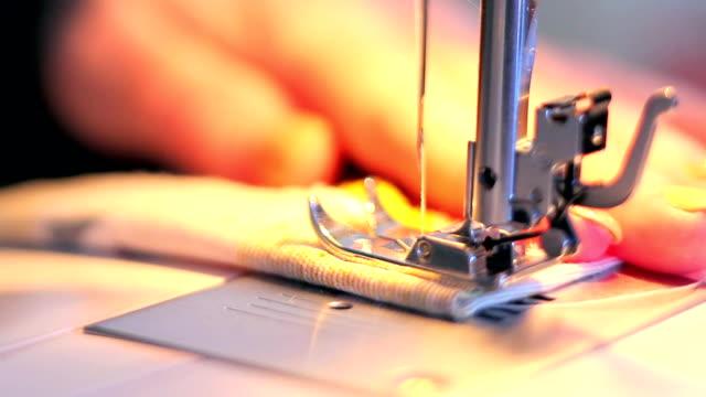Sewing machine working