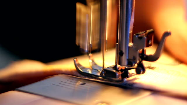 sewing machine working - sewing machine stock videos & royalty-free footage