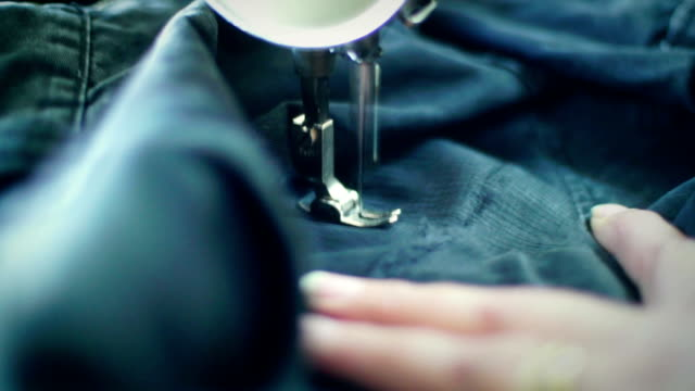 sewing process. - textile mill stock videos & royalty-free footage