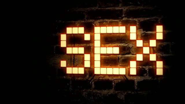 sex in neonfarben - ziegelmauer stock-videos und b-roll-filmmaterial