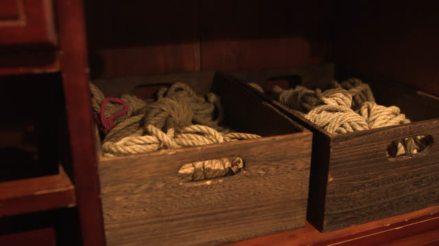 sex ropes in boxes, medium shot - fetish wear stock videos and b-roll footage