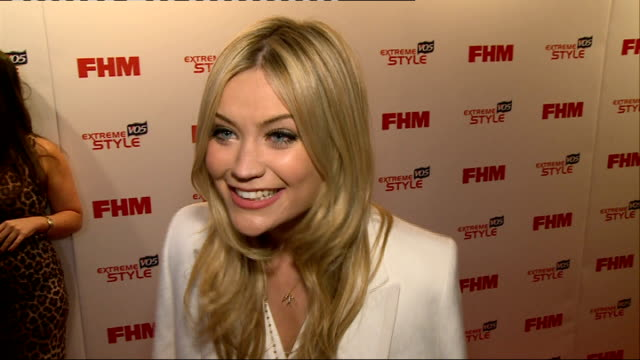 arrivals and interviews Laura Whitmore red carpet photocall and interview SOT/ Victoria Pendeleton red carpet photocall and interview SOT / Chris...
