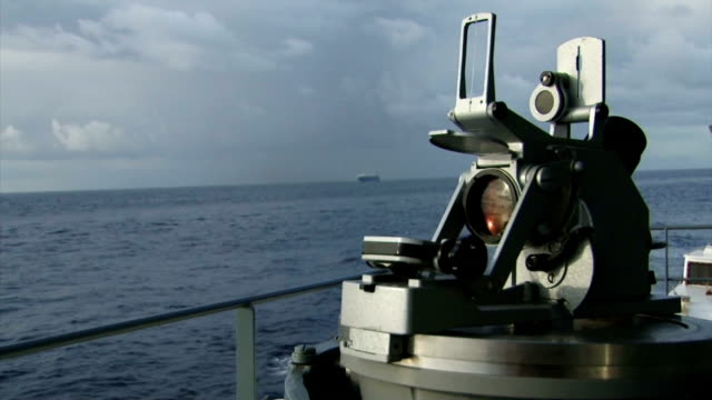 sextant on a ship at sea - sextant stock videos & royalty-free footage