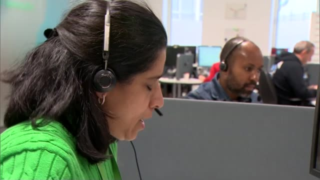 Gareth Southgate comments Unidentified location Adviser in NSPCC telephone helpline centre speaking on handsfree telephone/ Jon Brown interview SOT/...
