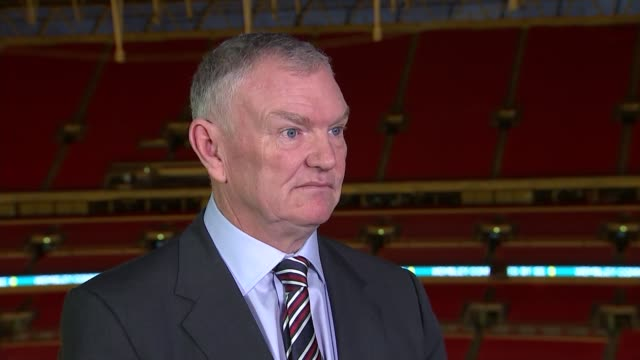 fa chairman greg clarke interview england london wembley int greg clarke football association chairman interview sot - abuse stock videos & royalty-free footage