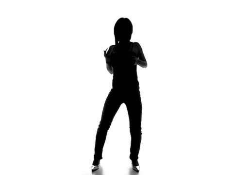 Sexy dancing silhouette 4