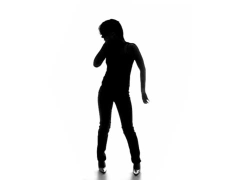 sexy dancing silhouette 5 - outline stock videos & royalty-free footage