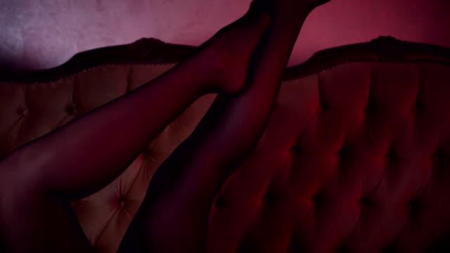 sexy legs - piede umano video stock e b–roll