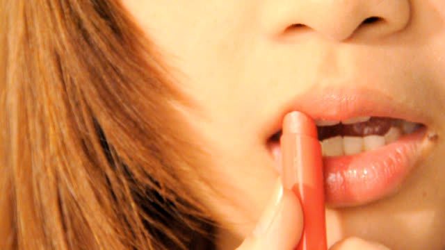 sexy lips  - close-up portrait - sensuality stock videos & royalty-free footage