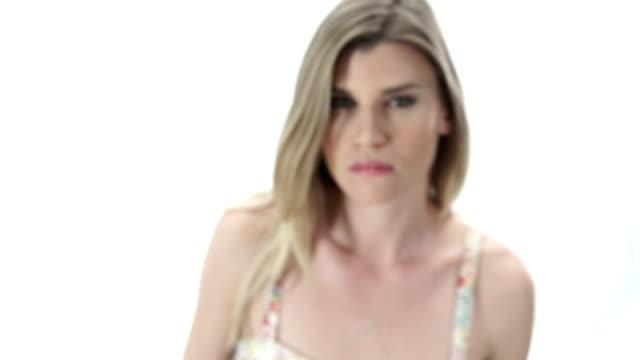 Sexy Model on White BG