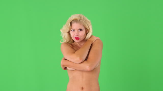 sexy nude blond woman covering breasts - semi dress stock videos & royalty-free footage