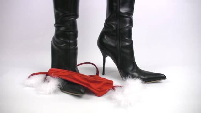 sexy santa claus wearing boots - fetishism stock videos & royalty-free footage